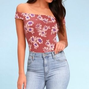 Free People So Much Off The Shoulder Bodysuit Tank